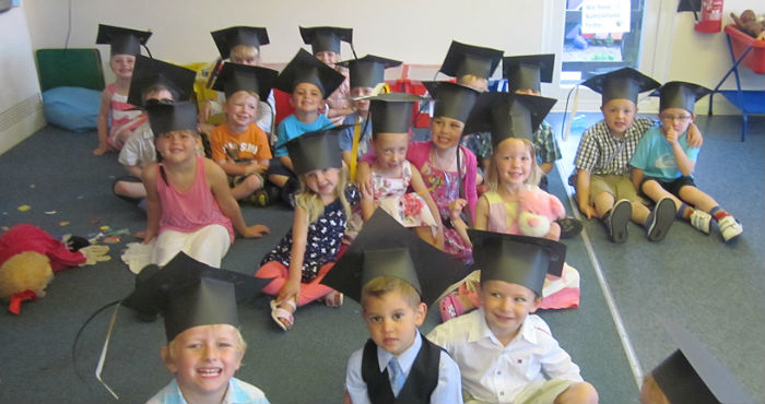graduation at newquay nursery